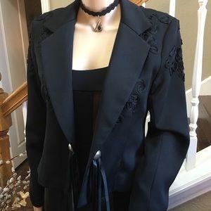 Night Lights Black Jacket Ribbon Appliqué